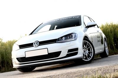 VW GOLF7 カストロールカップ エディション スタイル フロントスプリッター