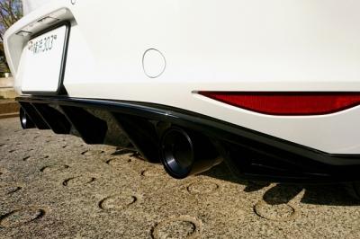 VW GOLF7 GTI BMS製 アルミブラック アルマイト マフラーカッター