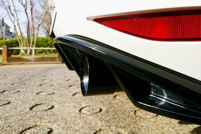 VW ゴルフ7 GTI BMS製 アルミブラック アルマイト マフラーカッター