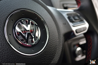 VW ゴルフ6 GTI,ステアリング,GTIチェック,インレイ