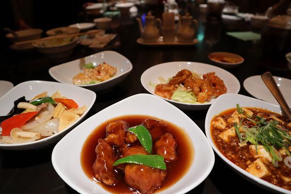 酢豚・麻婆豆腐・エビチリ
