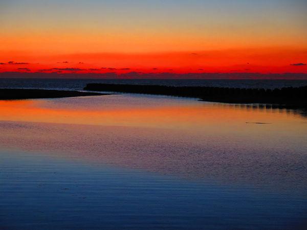 神之川橋からの夕焼け