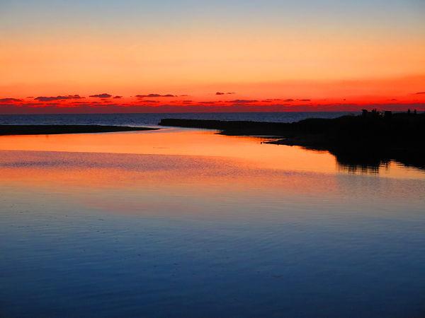 神之川橋からの夕焼け2