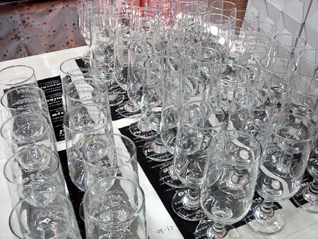 名入れエッチングのピルスナーグラス