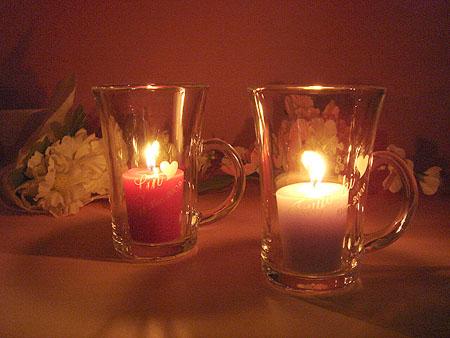 アロマキャンドルガラスマグカップ