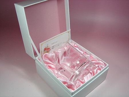 還暦祝いに、名入れ ファインクリスタル ロックグラス(化粧箱つき)