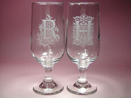 ご結婚祝いプレゼント イニシャル入りペアグラス