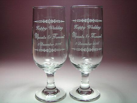 結婚祝い名入れ彫刻ガラス ペア グラス ギフト