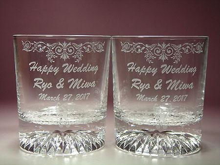 結婚祝い 名入れ 彫刻 ペアグラス ギフト