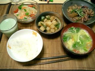 飯タコとナスの味噌煮