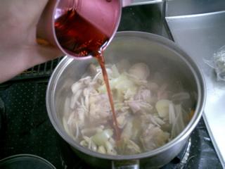 ワイン煮inワイン