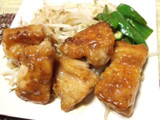 鶏の梅じょうゆ3