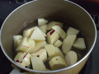 「リンゴとさつまいもの甘煮」