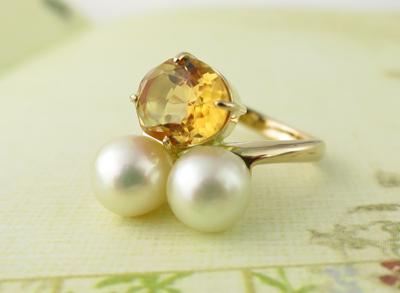 指輪真珠リフォーム