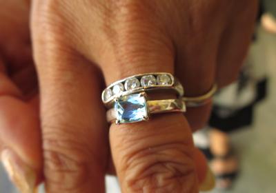 ブルートパーズ指輪