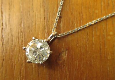 ダイヤをネックレスに