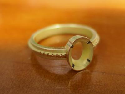 ミル打ち指輪作り方