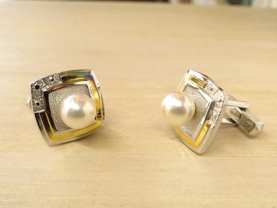 真珠カフスリフォーム