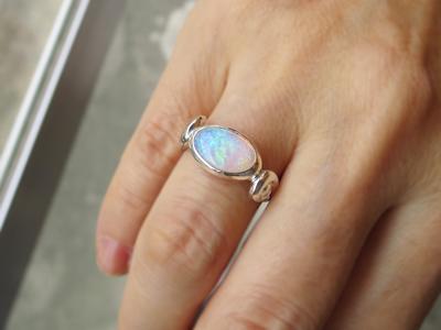 オパール指輪リメイク