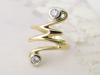 ダイヤモンドリングリメイク