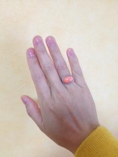 珊瑚指輪プラチナ