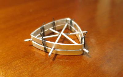 宝石の枠作り
