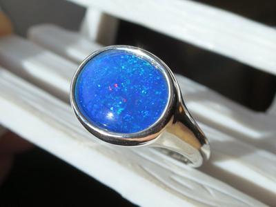 ブルーオパール指輪
