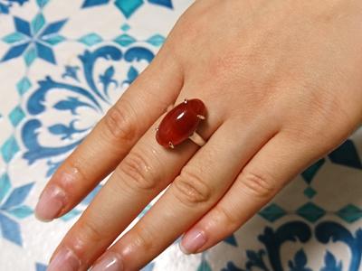 カーネリアン指輪