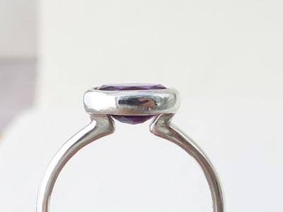 アメジスト指輪リフォーム