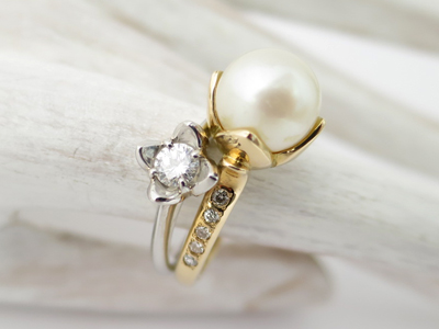 ダイヤと真珠リング