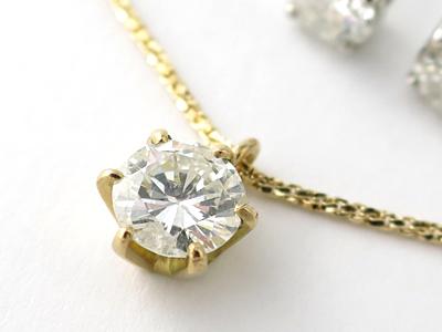ダイヤモンドネックレス加工
