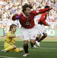 山田暢のゴールで先制だぁ!