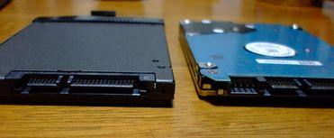 左SSD 右HDD