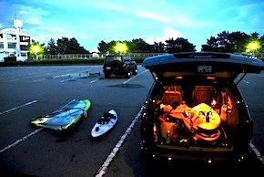 検見川 駐車場夜景