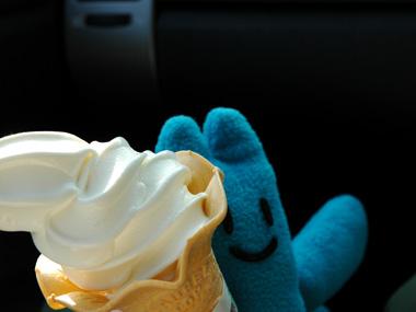 ゴンガリくんとソフトクリーム