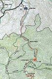 加江田渓谷 MAP(一部)