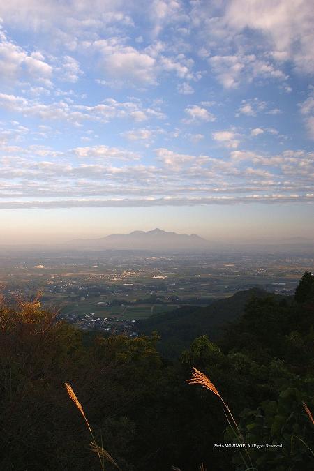 金御岳から見た霧島連山 高千穂峰