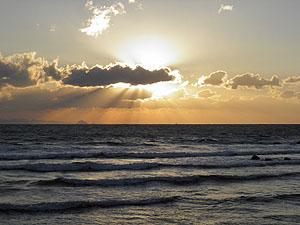 188号線の夕日
