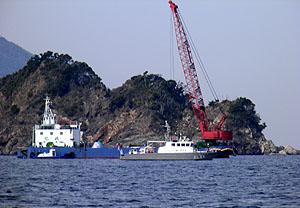 中電の作業船