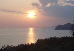 伊保木の夕日