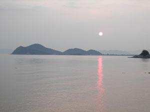 室積半島に沈む夕日