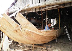 新庄さんの作る中世の木造船