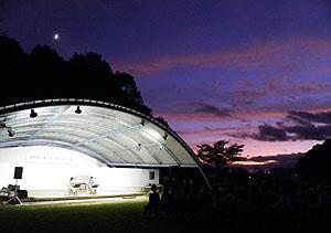 冠山公園での二胡のコンサート