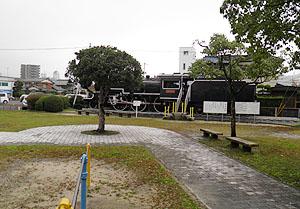 柳井駅裏ののSL広場
