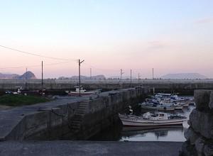 午後の祝島漁港
