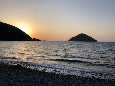 三浦湾の夕陽