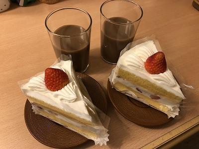 シャトレーゼのショートケーキ