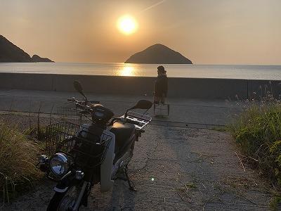 三浦の夕陽