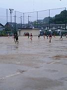 大雨の中の試合
