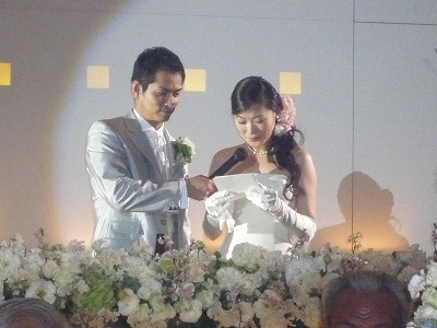 中地英彰友理子結婚披露宴10